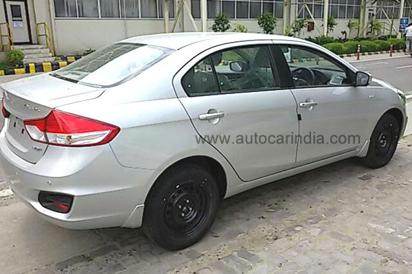 Maruti Suzuki Ciaz Spy Shot Rear Right Quarter