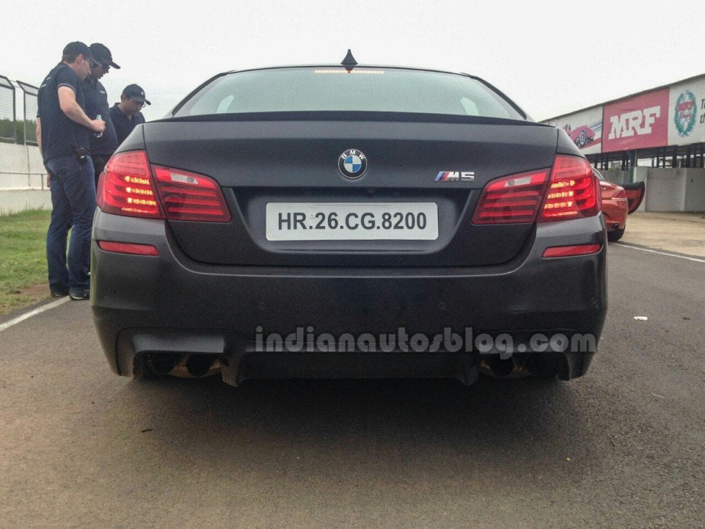 BMW-M5-facelift-rear-in-India-1024x768 - CarBlogIndia