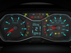 Mahindra Scorpio Facelift Interior Instrument Cluster In Focus