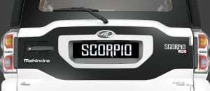 Mahindra Scorpio Facelift Rear Something