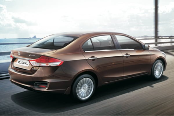 Maruti Ciaz Price in India Official Pictures Rear Angle