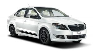 Skoda Rapid Facelift Front Right Quarter