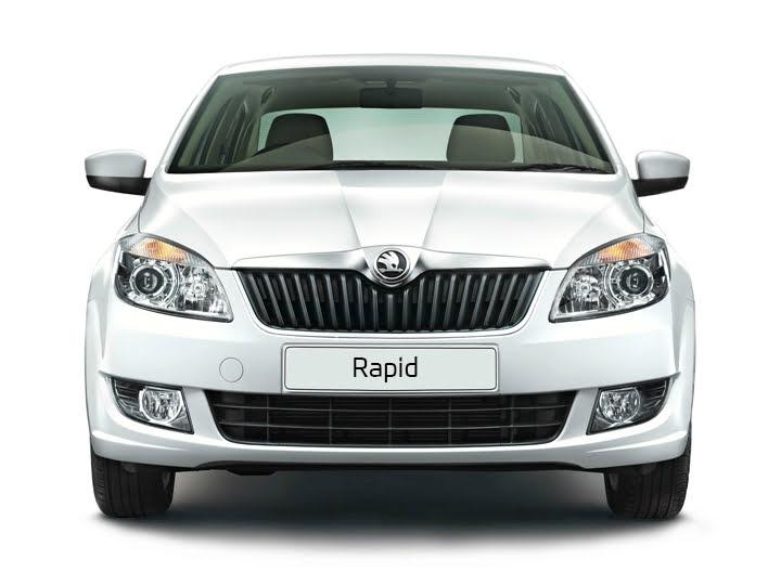 Skoda Rapid Facelift Front