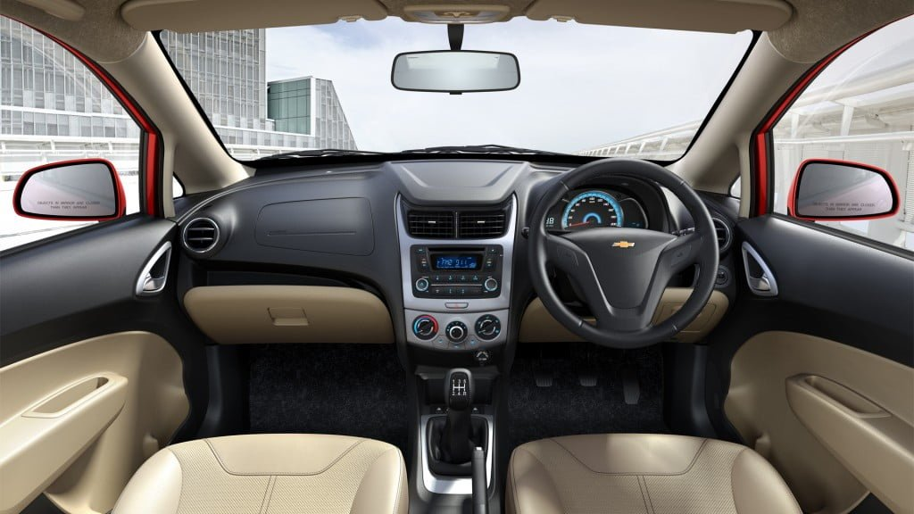Chevrolet Sail Hatchback Facelift Interior Dashboard