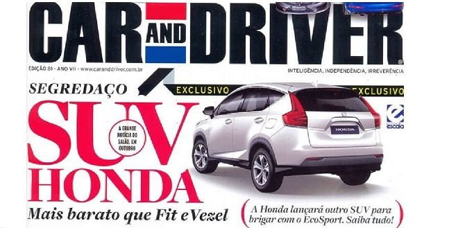 Honda Compact SUV, Ford EcoSport Rival Rendered