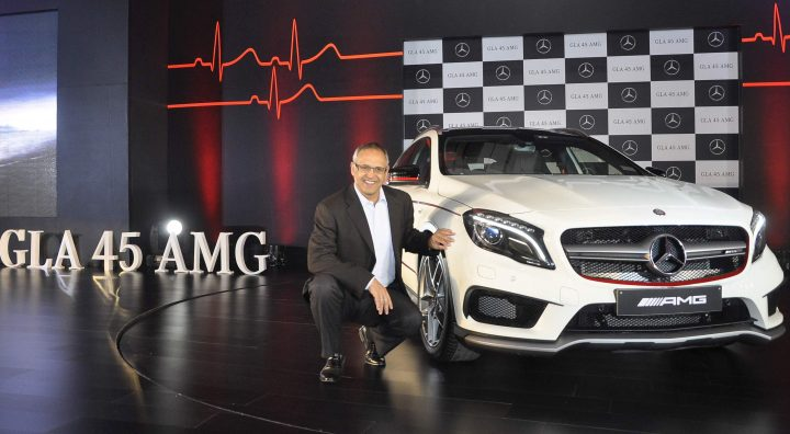 Mr.Eberhard Kern, Managing Director & CEO, Mercedes-Benz India at the launch of GLA 45 AMG 4Matic in Mumbai_1
