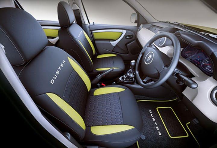 renault duster adventure edition interior front cabin carblogindia. Black Bedroom Furniture Sets. Home Design Ideas