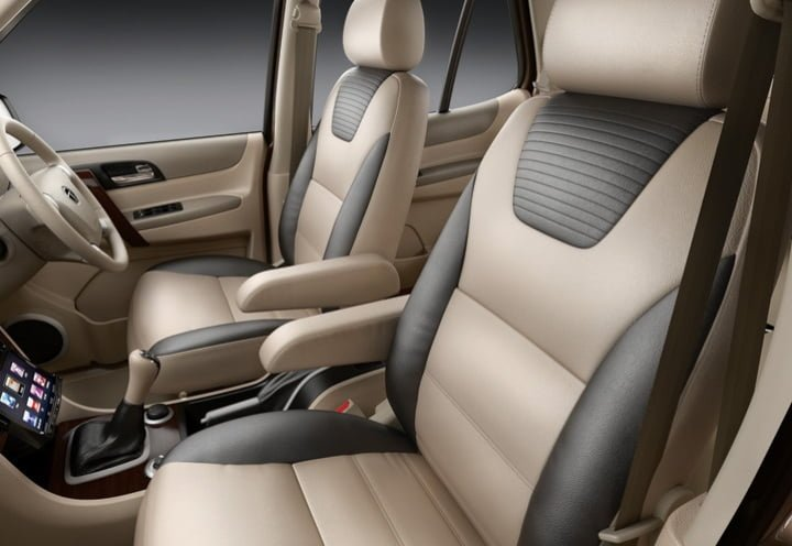 Tata Safari Explorer Edition Front Seats