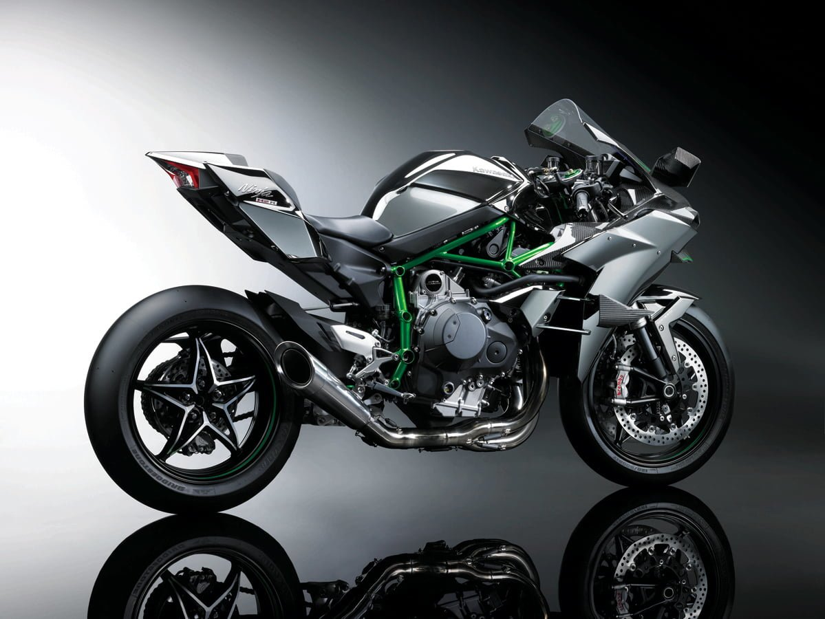 Kawasaki Ninja H2r Revealed 300 Tarmac Full Exhaust System Carbon Fiber A Street Legal Version Of The Motorcycle H2 Is Expected To Be Unveiled At Eicma In November Featuring Same Engine But Different