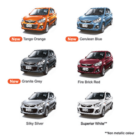 Alto K10 Colours Carblogindia