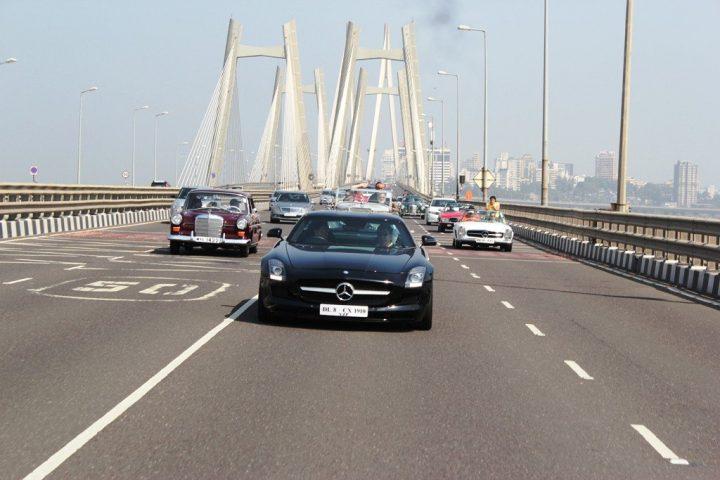 Mercedes-Classic-Car-Rally-Mumbai-SLS-AMG