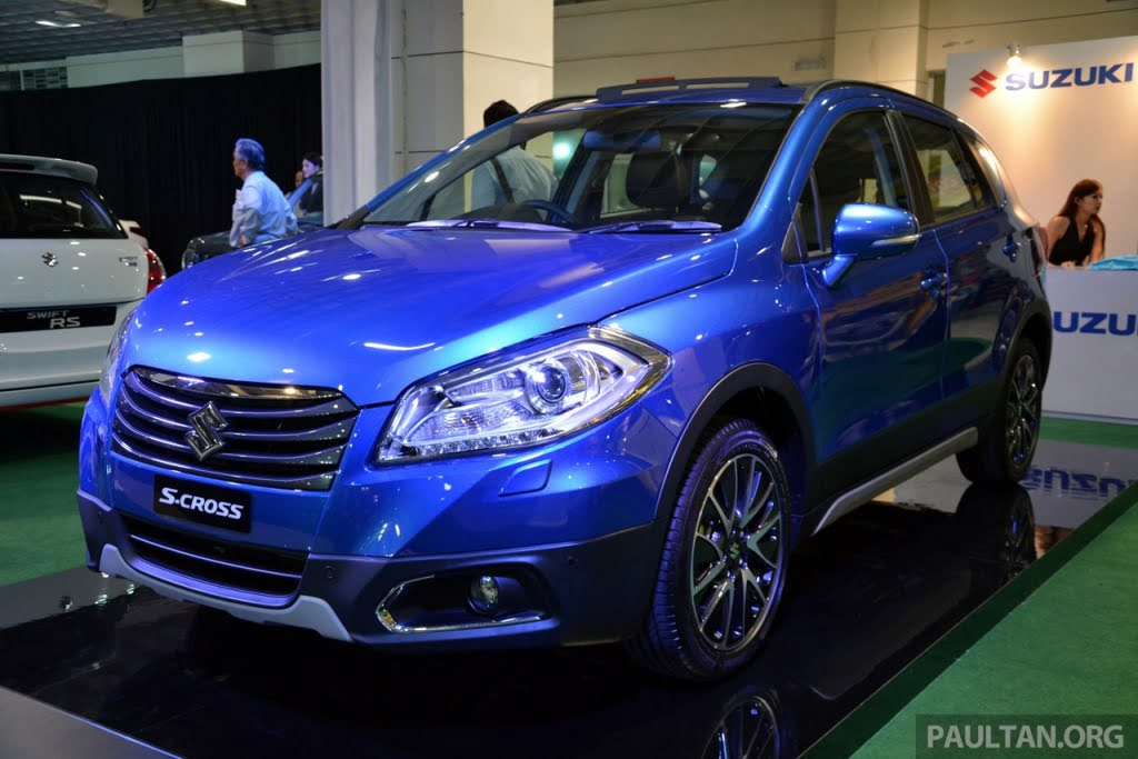 suzuki sx 4 s cross showcased before launch. Black Bedroom Furniture Sets. Home Design Ideas