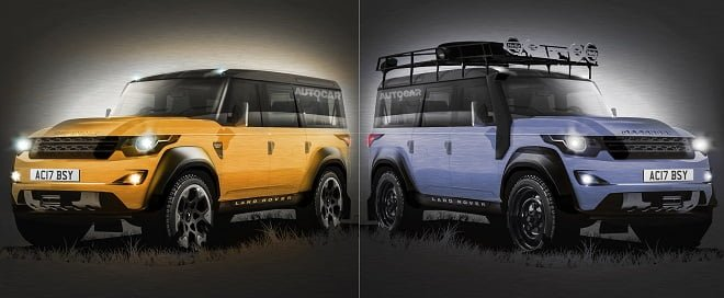Next Gen 2016 Land Rover Defender Rendered