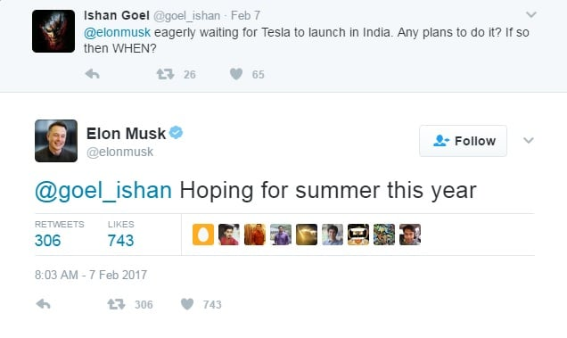 tesla india launch