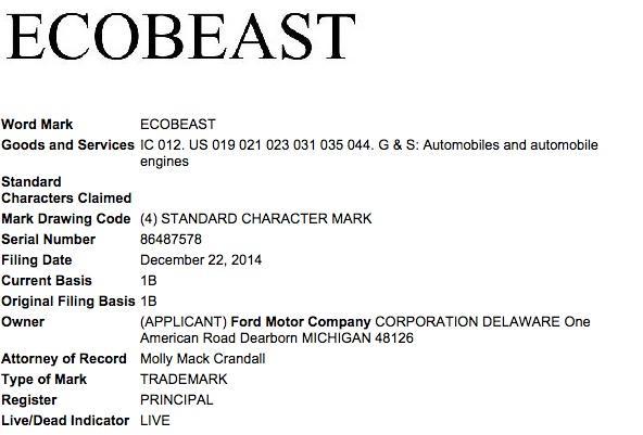 Ford-EcoBeast-trademark