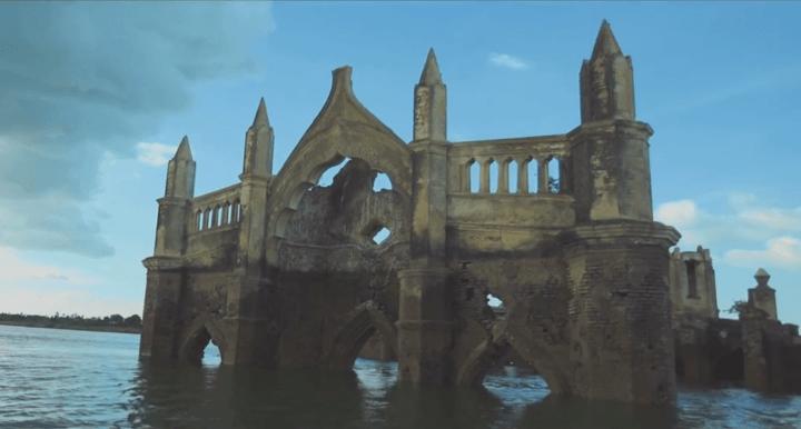 drowning church