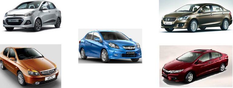 Top Five Fuel Efficient Diesel Sedan Cars in India
