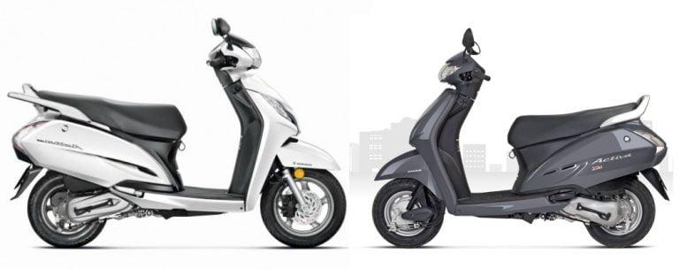 Honda Activa 125cc vs Activa 110cc – Price, Features and Spec Comparison