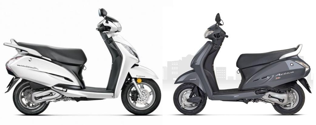 Honda Activa 125cc Vs Activa 110cc Comparison Of Price Mileage