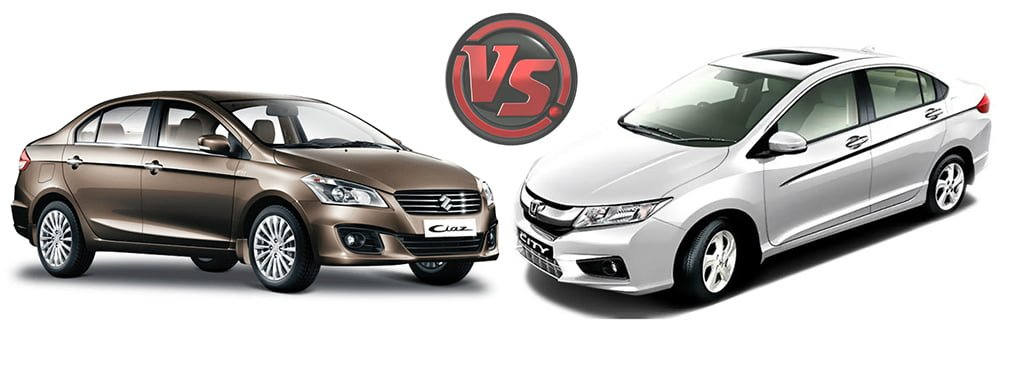 Maruti Ciaz Vs Honda City Carblogindia