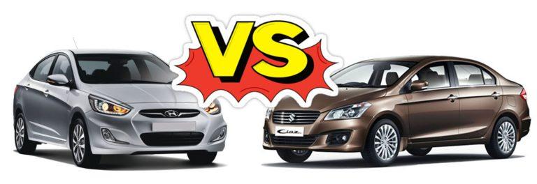 Comparison – Maruti Ciaz vs Hyundai Verna Fluidic