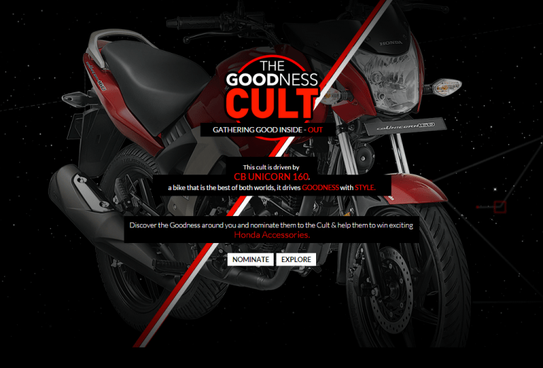 Nominate Your Friends For The Goodness Cult To Win Honda Accessories