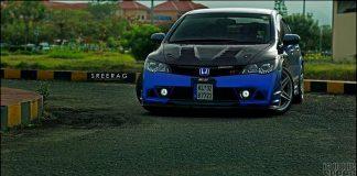modified-honda-civic-in-kerela-blue-front