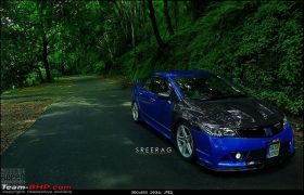 modified-honda-civic-in-kerela-blue-front-angle-2