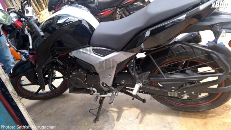 New 2018 TVS Apache RTR 160 Spy Images Leak Online