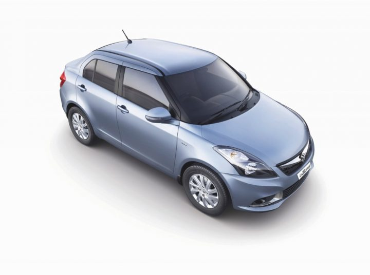 Maruti Baleno vs Dzire Comparison Price, Specs, Features 2015-Maruti-Swift-Dzire-top-front-angle-official-pics
