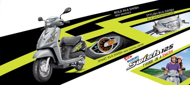 2015 Model Suzuki Swish 125 Launched At INR 56,482