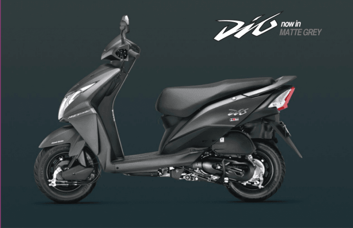 2016 honda dio prices - matte-grey