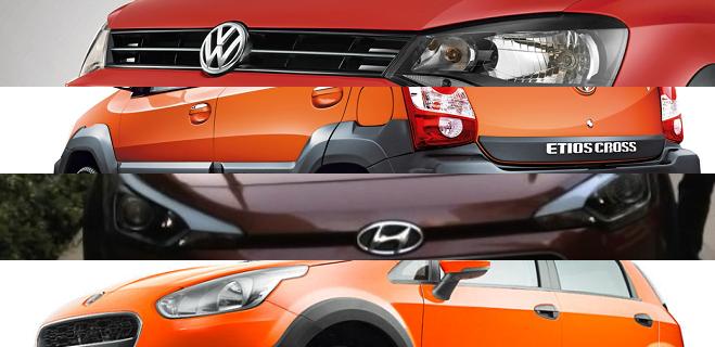 Hyundai i20 Active vs Toyota Etios Cross vs Volkswagen Cross Polo vs Fiat Avventura
