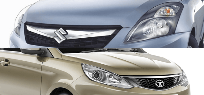 Comparison: 2015 Model Maruti Dzire vs Tata Zest