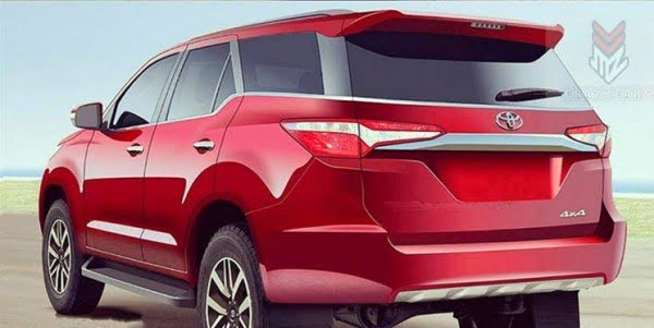 New Model 2016 Toyota Fortuner Pics Rear Carblogindia
