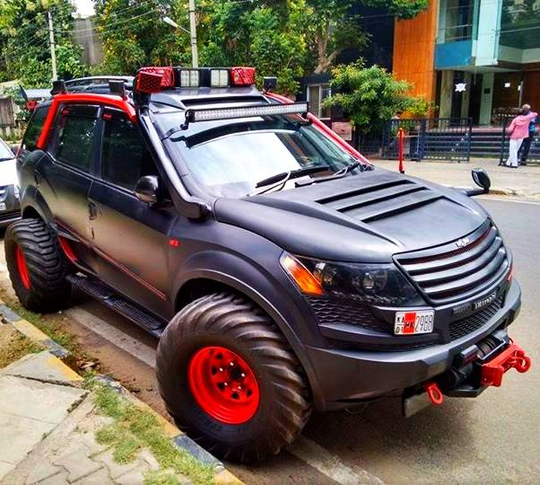 modified cars in india - XUV500 INtrepid front angle