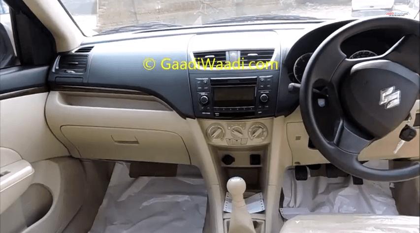 Maruti Dzire 2015 Model Interior Dashboard Carblogindia