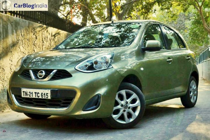 Automatic hatchback cars in India below 7 lakhs with Price, Specs, Mileage nissan-micra-cvt-long-term-review-front-angle-1