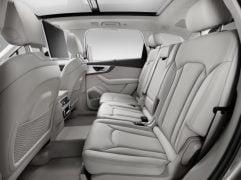 Audi Q7 e-tron pics rear interior