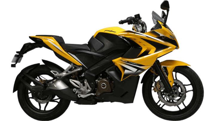 best bikes in India under 1.5 lakhs Pulsar RS200 side
