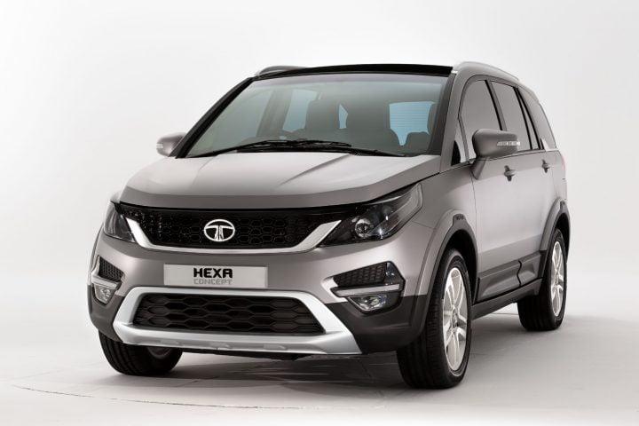 Tata Hexa Concept Front Angle