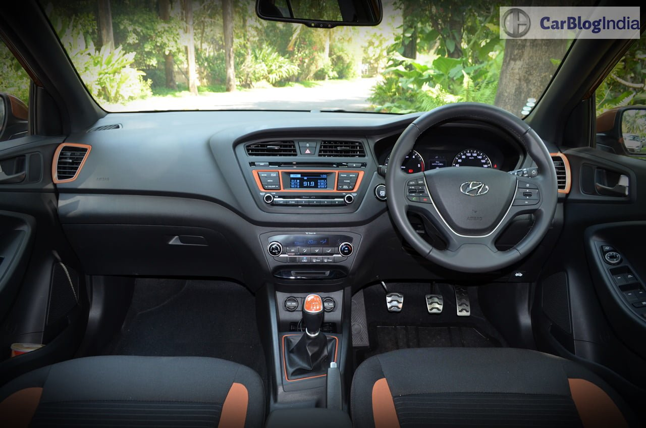 hyundai i20 active interior dashboard carblogindia. Black Bedroom Furniture Sets. Home Design Ideas
