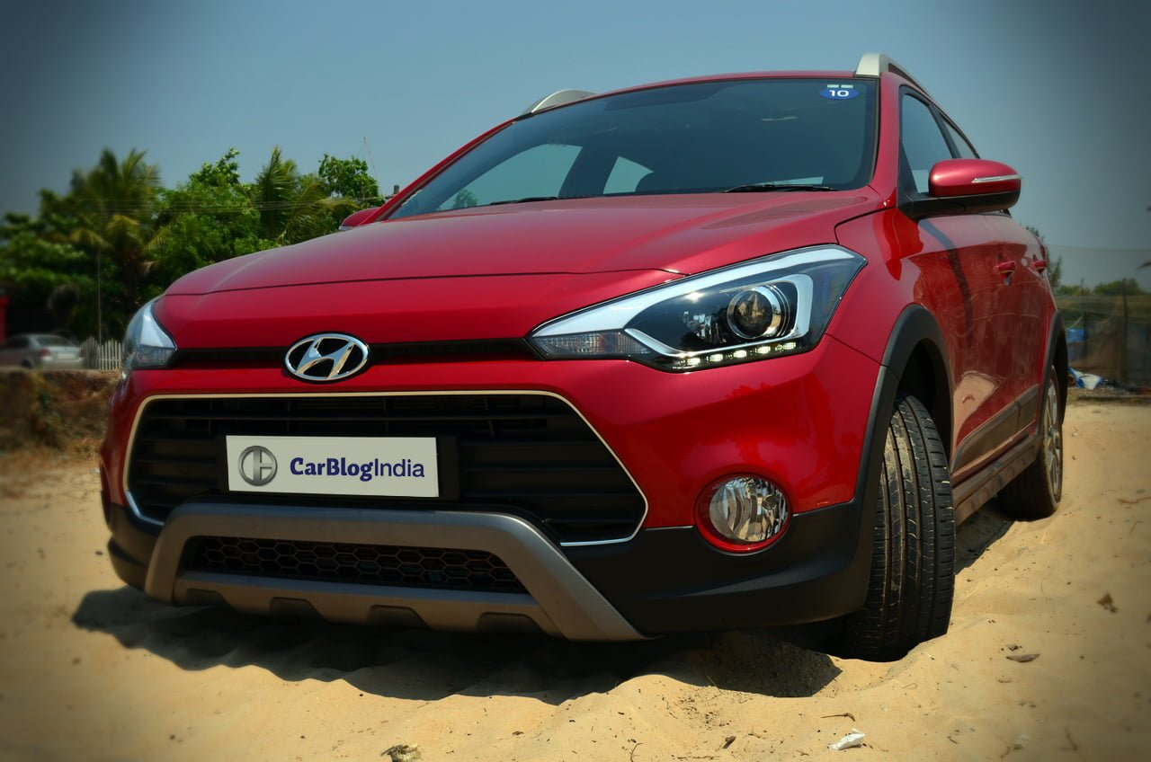 Hyundai I20 Active Red Front Angle Review Off