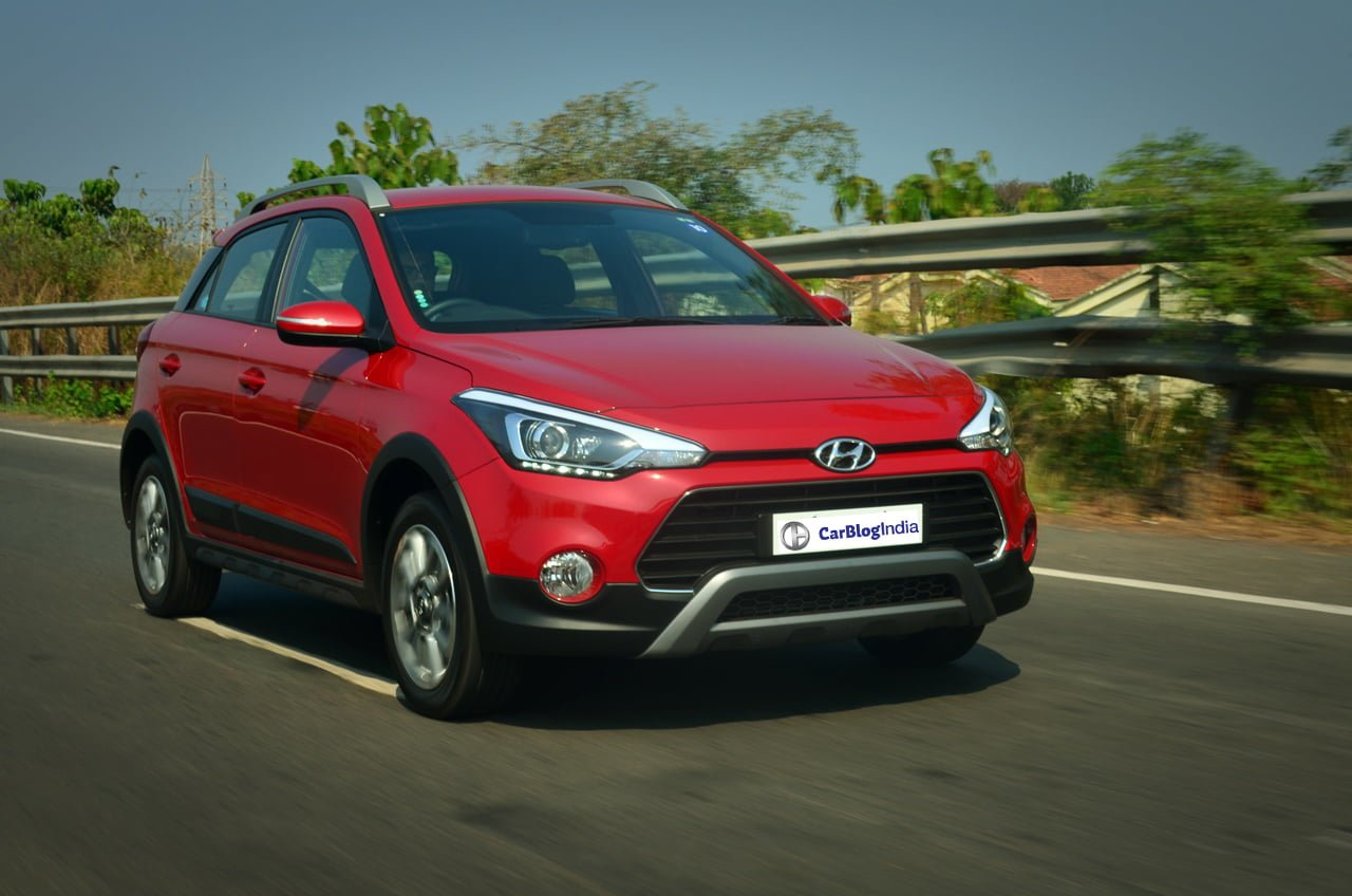 Hyundai I20 Active Red Front Quarter Action Shot
