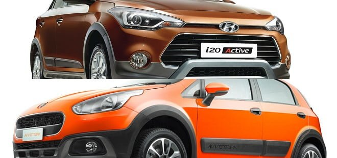 i20 Active vs Fiat Avventura