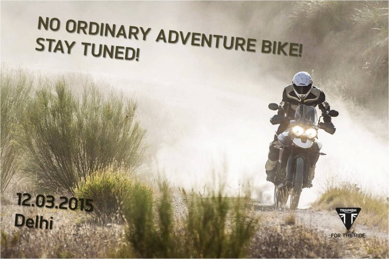 New Model 2015 Triumph Tiger 800 XRx, XCx India Launch On March 12