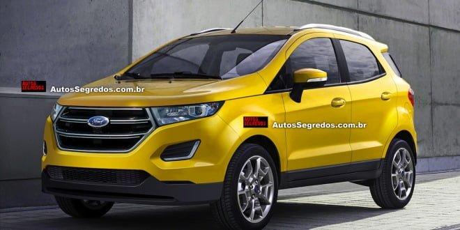 2016 Model Ford Ecosport Yellow Pics
