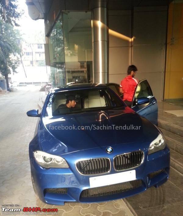 cars of sachin tendulkar BMW M5 sachin