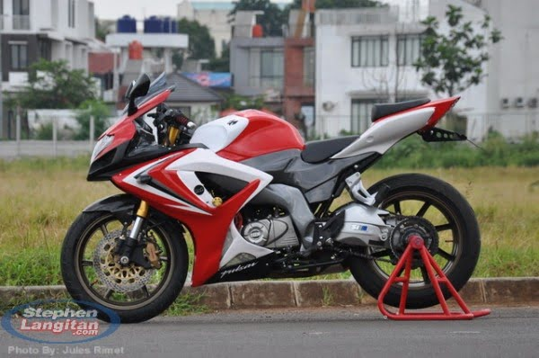 modified bajaj pulsar 220 -Rouser-220-Pics-Side