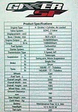suzuki-gixxer-sf-specifications
